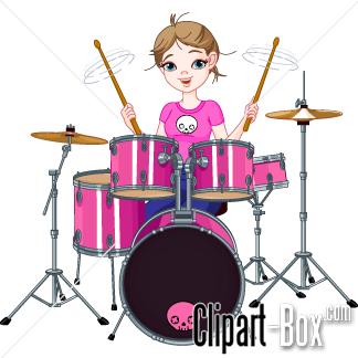 Girl Drummer Clipart #1-Girl Drummer Clipart #1-15
