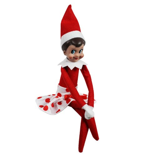 Girl Elf on the Shelf CHECK . - Elf On The Shelf Clipart
