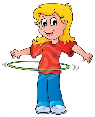 Girl Exercise With Hula Hoop Clipart Cliparts Co