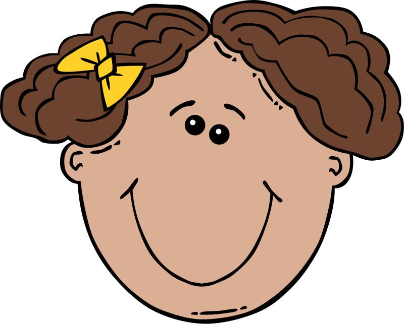 Girl Face Clipart