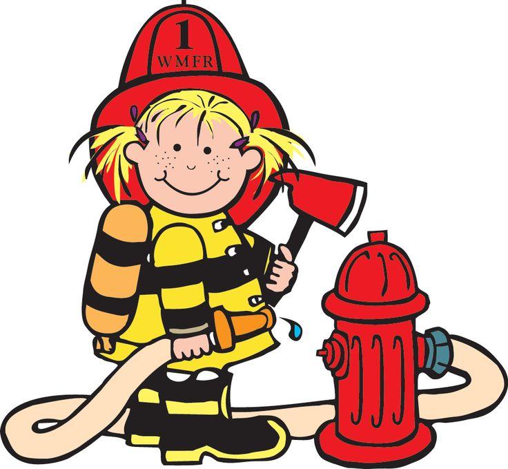Girl Firefighter Cartoon | Cl - Firefighter Clipart Free
