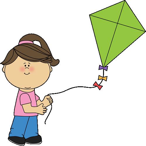 Girl Flying A Kite-Girl Flying a Kite-5