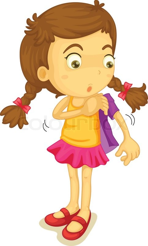 Girl Getting Dressed Clip Art - Getting Dressed Clipart