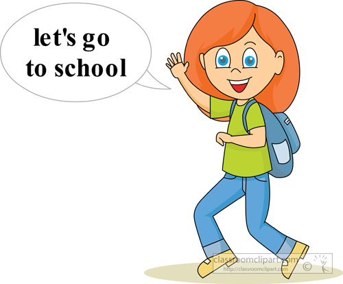 Girl going to school