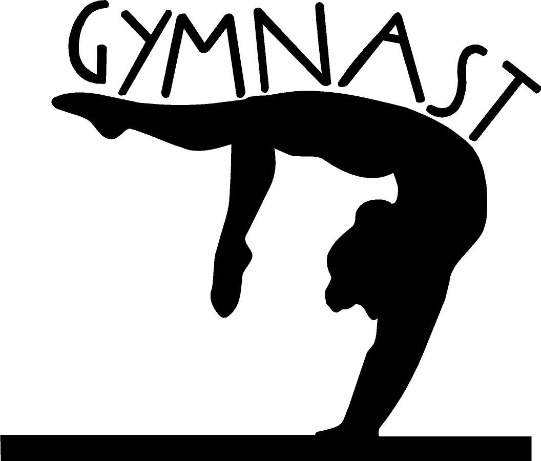 Girl gymnastics clipart silhouette il fullxfull b6 clipartcow