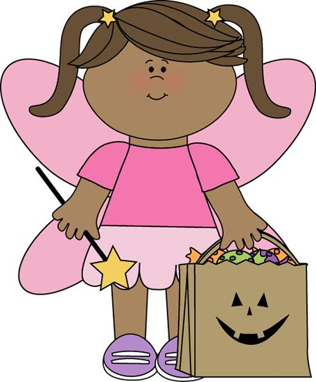 Girl in a Halloween Fairy Costume clip art image. A free Girl in a Halloween Fairy Costume clip art image for teachers, classroom lessons and activities, ...