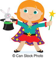 ... Girl Magician - A Young Girl Dressed-... Girl Magician - A young girl dressed as a magician is.-6
