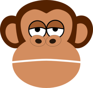 Girl Monkey Face Cartoon .