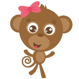 Girl Monkey SVG cut file for scrapbooking free svgs free svg cuts monkey svg file cute