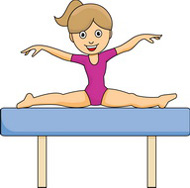 girl on balance beam gymnastics. Size: 56 Kb