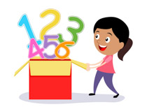 Girl Opening Box Full Of Numbers Math Si-Girl Opening Box Full Of Numbers Math Size: 77 Kb-11