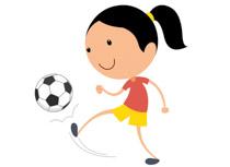 Girl Playing Soccer Kicking Ball Clipart-Girl Playing Soccer Kicking Ball Clipart Size: 50 Kb-2