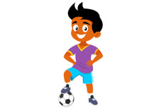 Girl Playing Soccer Kicking Ball Clipart Size: 50 Kb