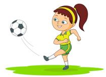 Girl Playing Soccer Kicks Ball Size: 92 -Girl Playing Soccer Kicks Ball Size: 92 Kb-1