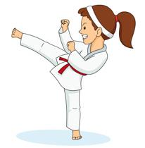 Girl Practicing Karate Kick Clipart Size-Girl Practicing Karate Kick Clipart Size: 82 Kb-0