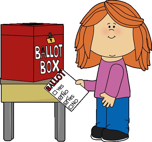 Girl Putting A Ballot In A Box-Girl Putting a Ballot in a Box-5