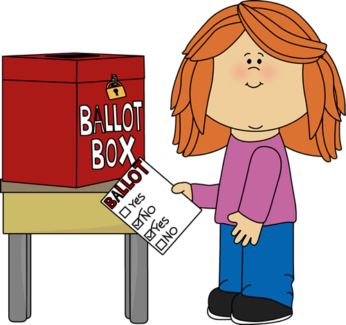 Girl Putting a Ballot in a Box