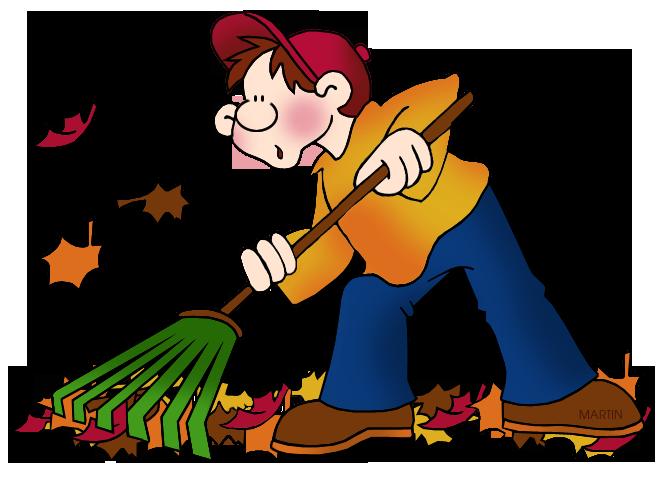Girl Raking Leaves. Free Seasons Clip Ar-Girl Raking Leaves. Free Seasons Clip Art by .-8