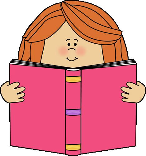 Girl Reading a Book Clip Art-Girl Reading a Book Clip Art-7