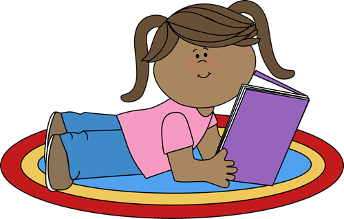 Girl Reading - Read Clipart