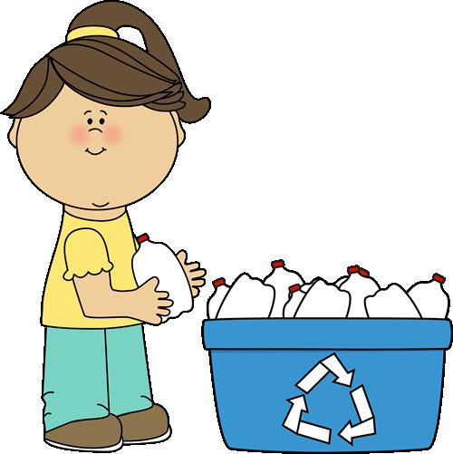Girl Recycling Plastic Bottles Clip Art Girl Recycling Plastic