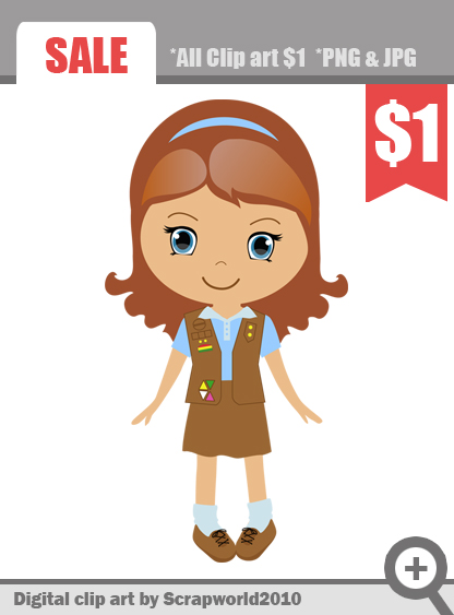 Girl Scout Brownie Clip Art