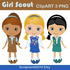 Girl Scout Clip Art Digital .-Girl Scout clip art Digital .-8