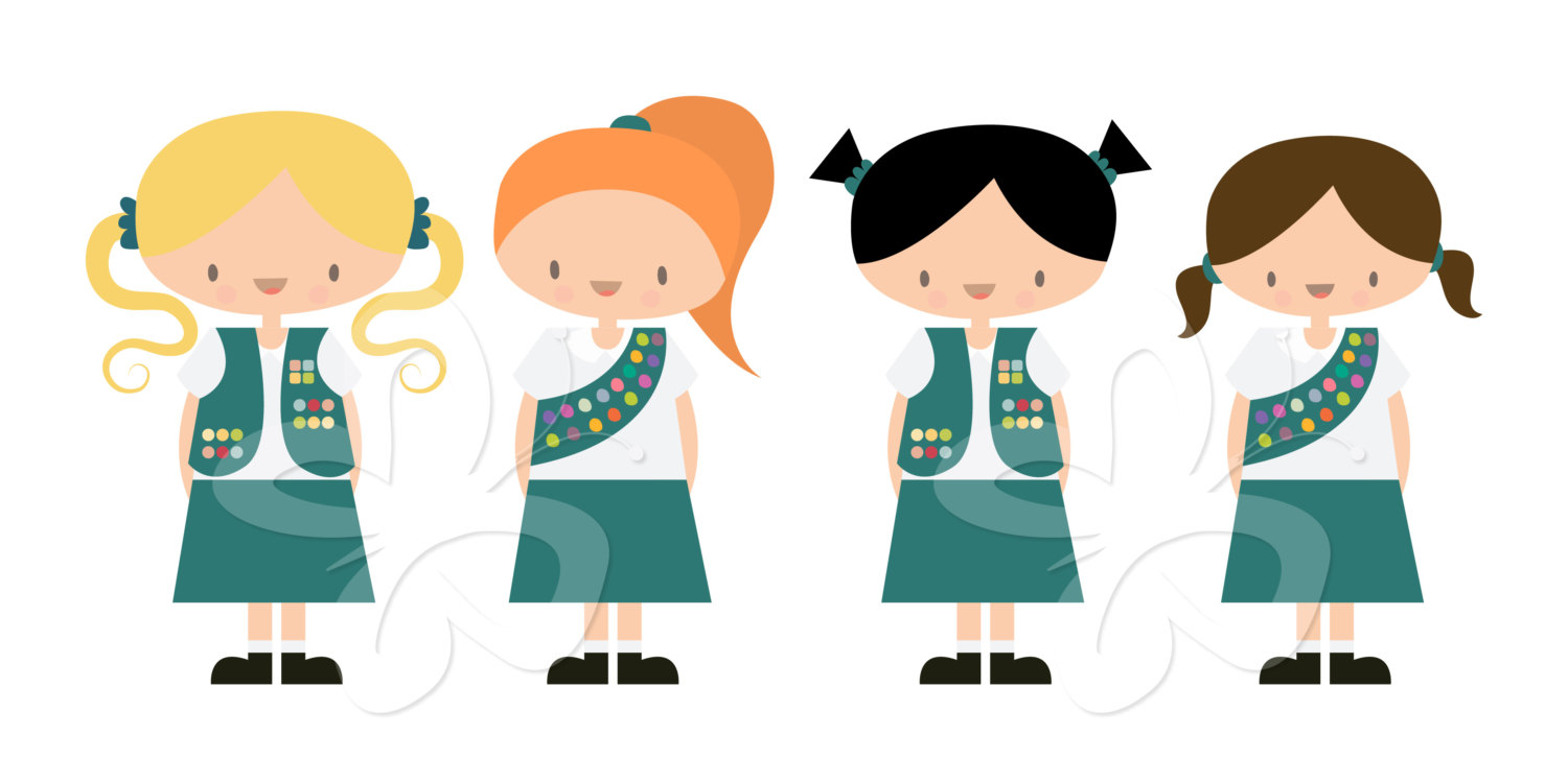 Girl Scouts Clip Art Clipart Set Commerc-Girl Scouts Clip Art Clipart Set Commercial By Collectivecreation-5