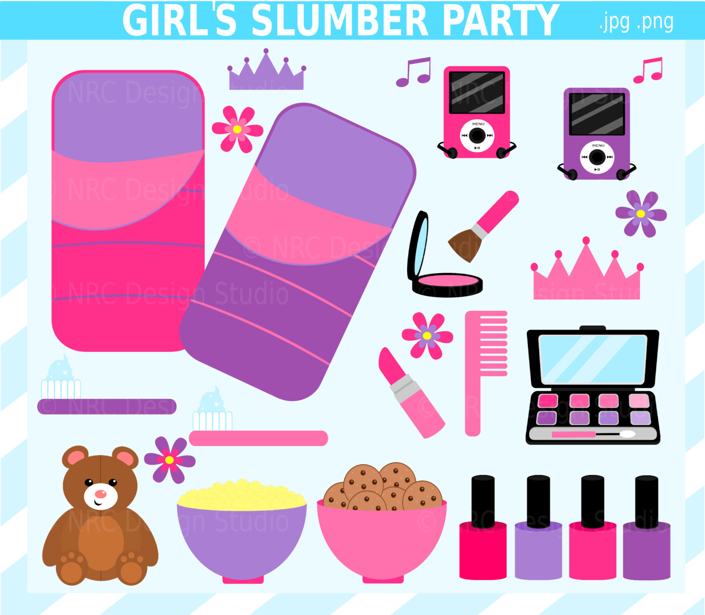 Girl Slumber Party Clip Art Sleepover Cl-Girl Slumber Party Clip Art Sleepover Clip Art By Nrcdesignstudio-5