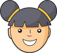 Face kids clip art free vecto