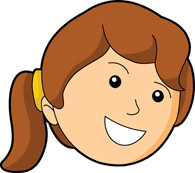 Girl Smiling Face Size: 82 Kb - Faces Clip Art