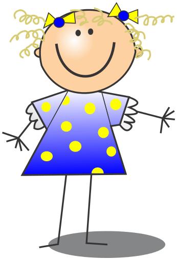 Girl Stick Figure Clip Art Download