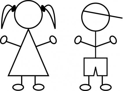 Girl Stick Figure Clipart