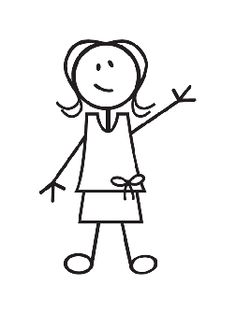 girl stick figure - Clipart Stick Figure