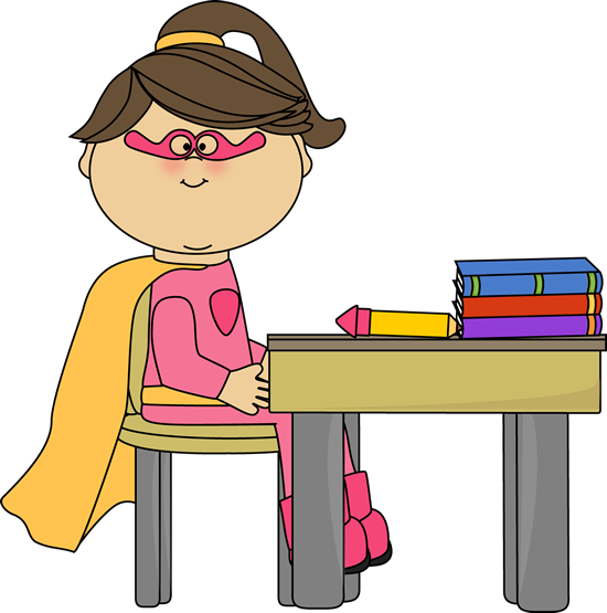 Girl Superhero at School Desk-Girl Superhero at School Desk-6
