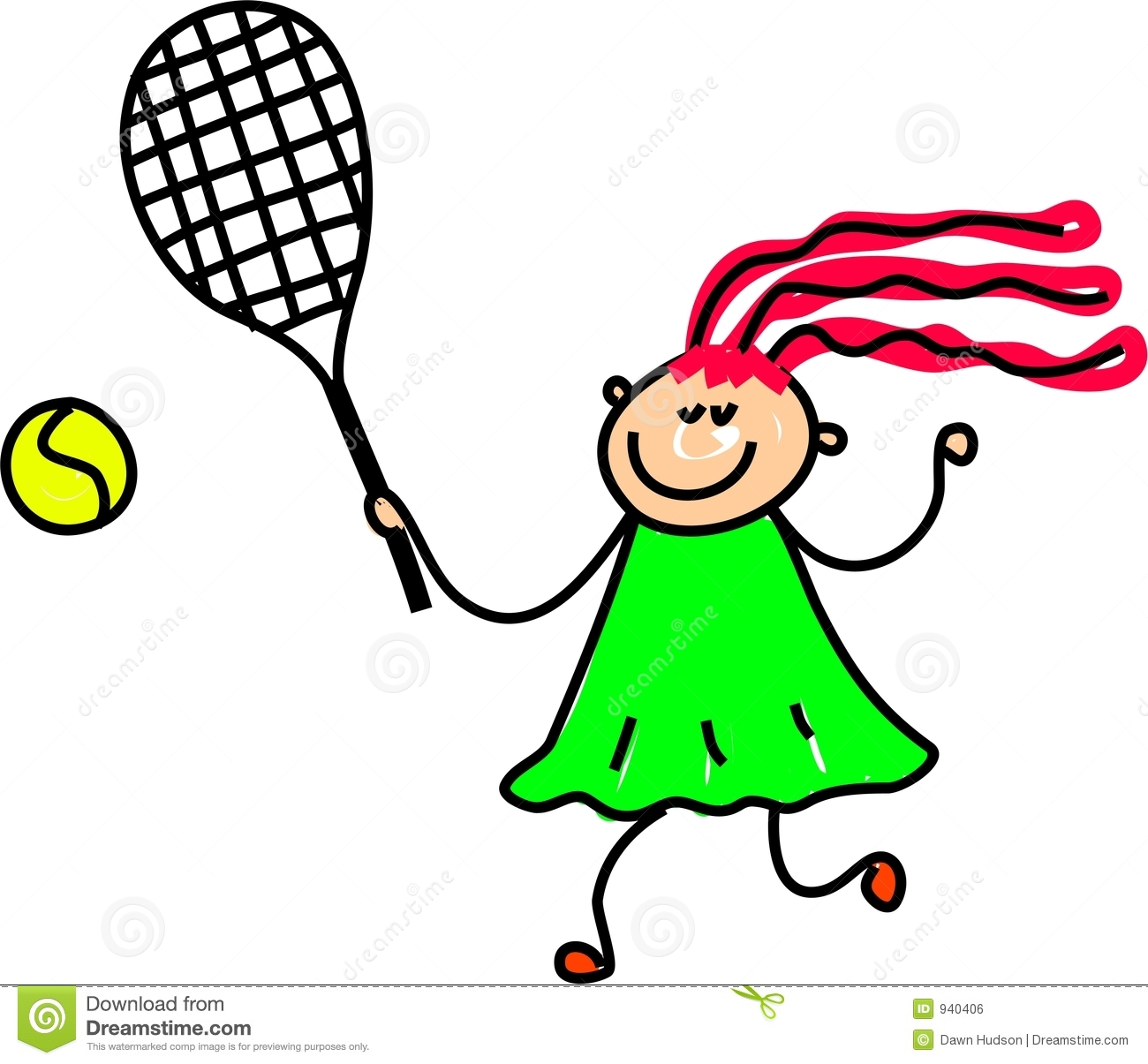 Girl Tennis Clipart Tennis Kid .