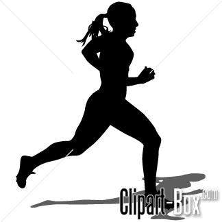 Girl Track Runner Clipart
