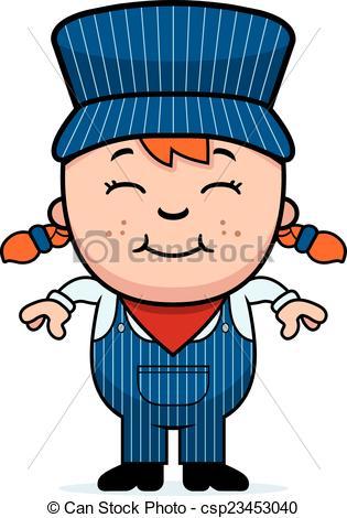 ... Girl Train Conductor - A cartoon ill-... Girl Train Conductor - A cartoon illustration of a girl.-9