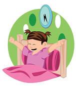 Girl waking up. Little Girl Hair clipart-Girl waking up. Little Girl Hair clipart and .-19