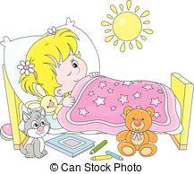 ... Girl waking up - Little girl waking -... Girl waking up - Little girl waking up in her small bed-14