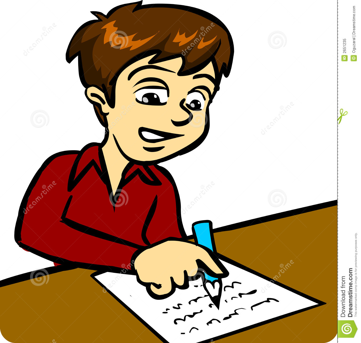 Girl Writing Clipart Boy Writing 2651235 Jpg