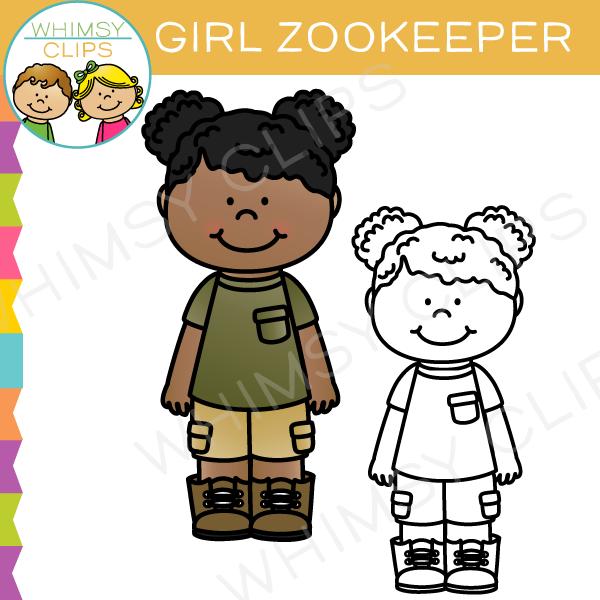 Girl Zookeeper Clip Art