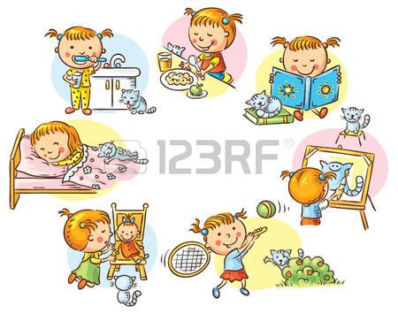 girls daily activities, .