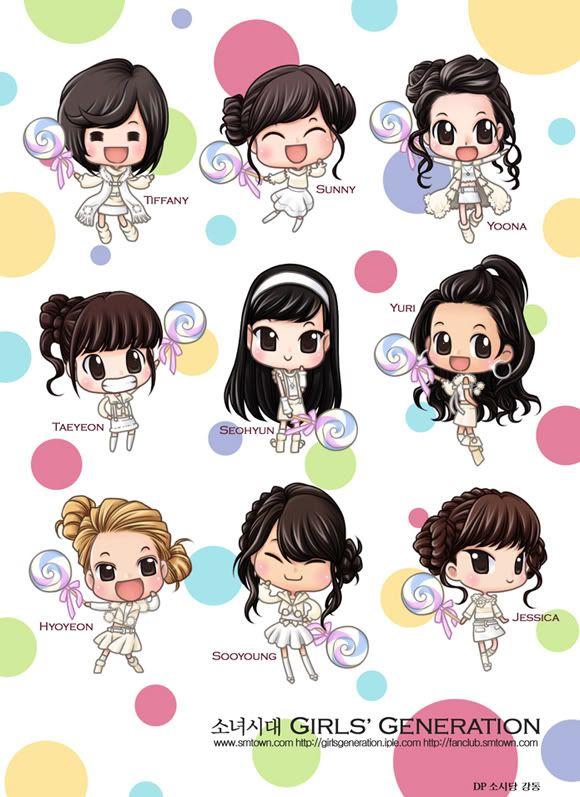cartoon images of people | girlsu0027 generation cartoon 5