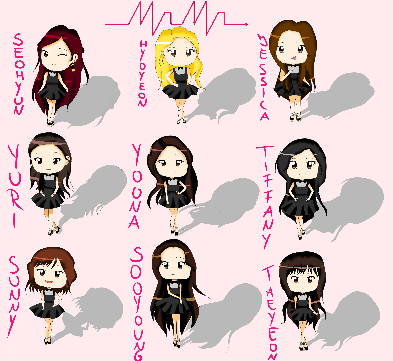 Drawing Girlsu0027 Generation 소녀시대 (SNSD) - Mr. Mr. Chibi Style - YouTube