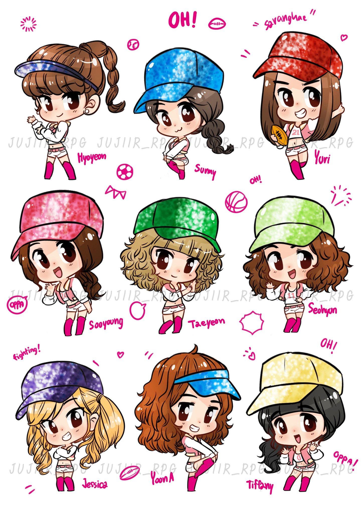 Kpop Girl Groups, Kpop Girls, Snsd Tiffa-Kpop Girl Groups, Kpop Girls, Snsd Tiffany, Girls Generation, Chibi,  Fanart, Skottie Young, 10 Anniversary, Sooyoung-14