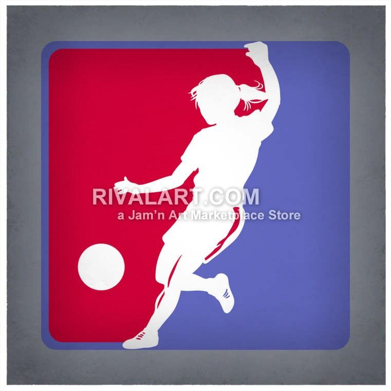 Girls Kickball Or Soccer.