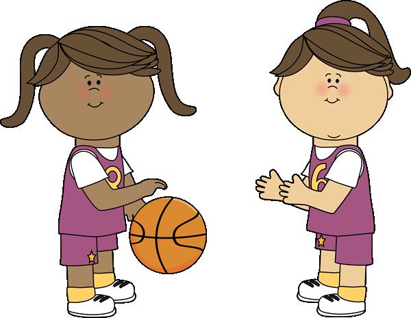 Girls Playing Basketball-Girls Playing Basketball-17