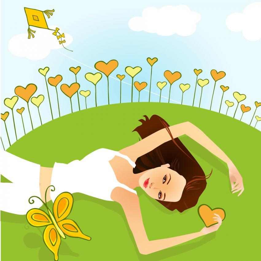 Girls Relaxation Clipart-Girls Relaxation Clipart-2