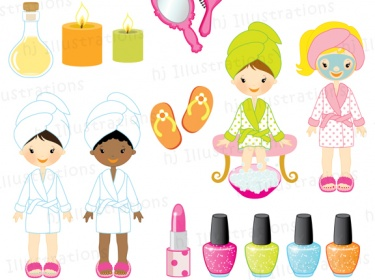 Girls Spa Party Digital Clipart Meylah